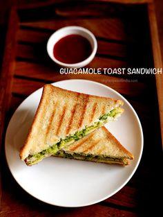 Quick Guacamole Recipe, Avocado Recipes, Vegan Recipes, Snack Recipes, Vegan Food, Food Food, Healthy Sandwiches, Sandwich Recipes, Veg Recipes Of India