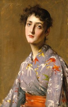 William Merritt Chase  - Girl in a Japanese Costume 1890