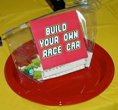 Give each child a bag of legos.  Then have them build a car and race them down a ramp!