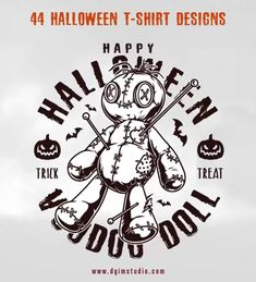Halloween vector design illustrations with editable text. All designs were created with care to detail for all those Halloween lovers. The collection will be perfect for kids, Halloween clubs, t-shirts and other apparel producers, merchandise.
