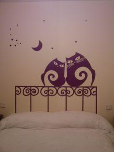 cabeceros pintados camas infantiles decoracion infantil cabeceras torre vinilos dormitorios painted headboards children decoration