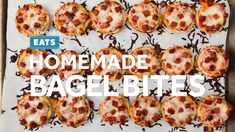 If you can't understand the allure of made-from-scratch Bagel Bites, you'll just have to try them for yourself. This is a recipe for the hardcore fans, those of us who've longed for bite-size pizza poppers that taste as good as we remember—chewy, cheesy, salty, and crisp. #BagelBites #Snacks #GameDay #SuperBowl #GameDayRecipes #DIY #Serious Eats