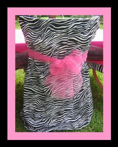 zebra party chair.... Pink or Tiffany blue!! For the birthday girl. Love the idea of decorating the chairs. *