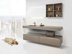 Kolomkast Badkamer Outlet : Beton in de badkamer badkamermeubel beat met betonnen