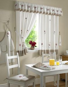 beautiful curtain design ideas to decorate the kitchen window page 4 Kitchen Design, Kitchen Decor, Kitchen Ideas, Beautiful Curtains, Curtain Designs, Kitchen Curtains, Drapes Curtains, Home Improvement, Home And Family