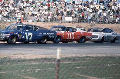 1968 Motor Trend 500 at Riverside Raceway. Riverside Raceway, Parnelli Jones, Nascar Racing, Auto Racing, Dan Gurney, Ford Torino, Ford Lincoln Mercury, Old Race Cars, Ford Fairlane