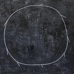 Matías Krahn. Big Black Sun. 130x130 cm. 2012