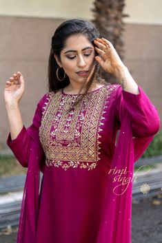 """ TAABEER"" ""The interpretation of dreams."" Fall winter 2018 Come . fall in love Model & Make up. Embroidery Suits Punjabi, Hand Embroidery Dress, Embroidery Fashion, Fancy Wedding Dresses, Indian Wedding Outfits, Plus Size Fashion Dresses, Stylish Dresses, Salwar Designs, Blouse Designs"