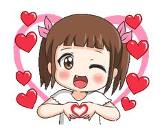 Love Cartoon Couple, Cute Cartoon Girl, Cute Love Cartoons, Gif Animated Images, Emoji Images, Cartoon Gifs, Animated Cartoons, Bon Mardi Humour, Calin Gif
