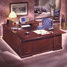Flexsteel Contract Governors Executive Desk With Left Return Orientation Right