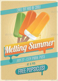 Summer is fast approaching, which means therell be summer parties around every corner. If you are hosting one, why not promote it using our summer flyer designs? City O, Interior Rendering, Summer Parties, Flyer Design, Invitations, Cool Stuff, Vintage, 3d, Vintage Comics