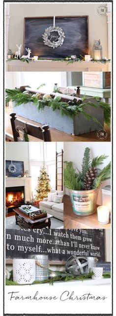 Farmhouse Christmas Decorating Home Tour - Finding Home