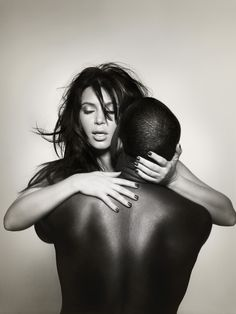 Nick Knight captures Kim Kardashian and Kanye West for the cover of L'Officiel Homme magazine