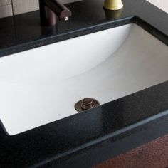Pearl sink with Weathered Copper drain Concrete Sink, Concrete Bathroom, Best Faucet, Bathroom Sink Drain, Lavatory Sink, Possible Combinations, Vessel Sink, Polished Nickel, Plumbing
