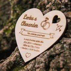 Drevená svadobná magnetka - Pozvánka srdce 9x8,5cm Music Instruments, Guitar, Musical Instruments, Guitars