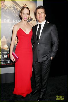 Tom Cruise & Emily Blunt Still Have Energy at Final 'Edge of Tomorrow' Premiere of the Day! | tom cruise emily blunt edge of tomorrow premie...