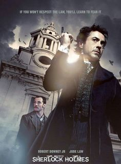 British movie poster image for Sherlock Holmes The image measures 630 * 933 pixels and is 119 kilobytes large. Sherlock Holmes Watson, Sherlock Holmes Robert Downey, Robert Downey Jr, Sherlock Bbc, Detective, Holmes Movie, Iron Man Movie, Iron Man Tony Stark, Jude Law