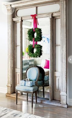 hanging wreaths inside