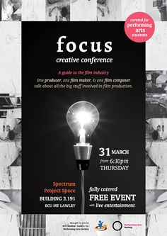 Poster design for Focus Creative Conferences