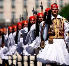The Presidential Guard in Athens (and other views of Greece) Macedonia, Greek Beauty, National Guard, My Heritage, Ancient Greece, Greece Travel, Albania, Beautiful Islands, Beautiful Places