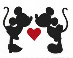 Vinyl decal of Mickey Mouse and Minnie by Buffyscollectables
