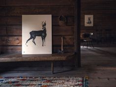 Wood prints by natural illustrator, Teemu Järvi. Love the reed pens + Chinese ink painting style. Deer Art, Moose Art, Roe Deer, Soft Blankets, Ink Painting, Visual Identity, Helsinki, Wood Print, Art Blog