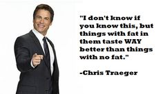 Happy Birthday to our beautiful blog owner! Have some gorgeous Chris Traeger (and some bacon!)