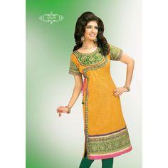 Kediya Pattern Yellow #Kurti