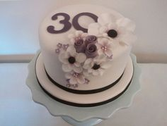 Elegant Birthday cake, could work with wedding as well