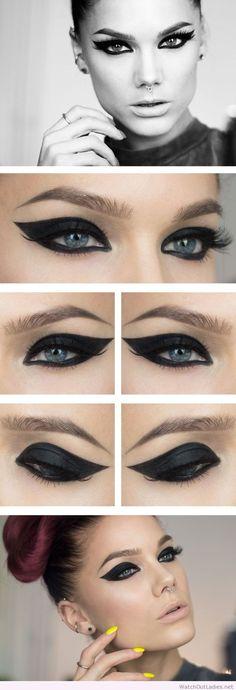 Linda Hallberg black eye makeup
