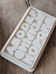 alphabet ice tray