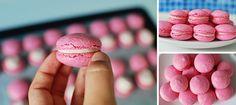 Malinové makronky fotonávod Macarons, Peach, How To Make, Food, Cupcake, Anna, Kitchen, Cooking, Peaches