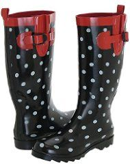 capelli new york ladies dot printed rain boots