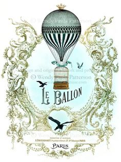Air Balloon Artwork - Vintage