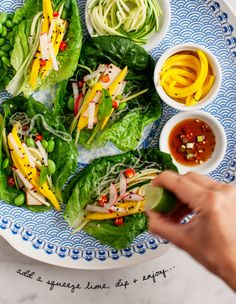 mango and zucchini lettuce wraps / @loveandlemons, platter by @qsquarednyc