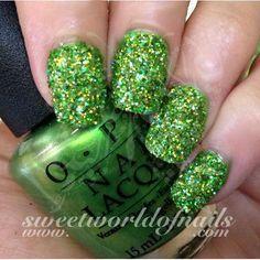 cacbddfde1 Nail Glitter Light Green Sparkle Glitter Dust Powder Nail Art
