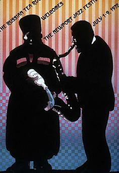 Milton Glaser jazz festival poster design 1973