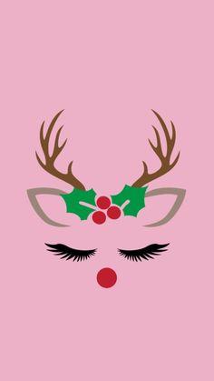 Pink stag deer Christmas snowflake snow winter Christmas snowflake Christmas