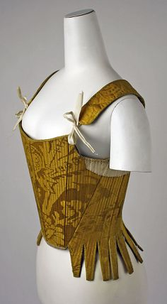 Corset early century Spanish - The Metropolitan museum of Art 18th Century Stays, 18th Century Dress, 18th Century Costume, 18th Century Clothing, 18th Century Fashion, 17th Century, Bustiers, Historical Costume, Historical Clothing