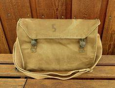 Stamped Vintage Military Messenger Bag by clpstudio on Etsy, $49.00