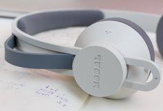 Products we like / Headphones / Grey / Pastel / Modal / Simple / Consumer electronics / at i am a dreamer - designbyblack.com