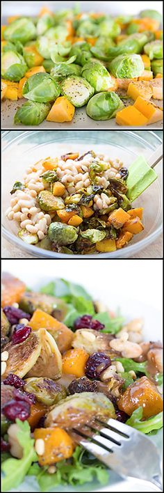 Roasted Brussel Sprout and Butternut Squash Salad.  www.joyineveryseason.com