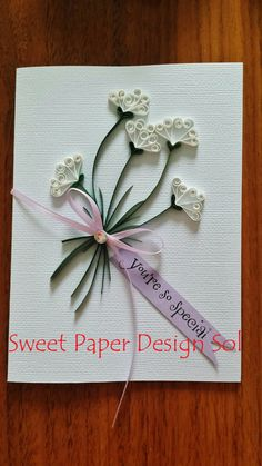 Paper Quilled Beautiful card for от SweetPaperDesignSol на Etsy