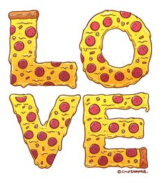 "betype: "" Pizza Love by Sam Moore "" betype: ""Pizza Love von Sam Moore"" Cute Pizza, I Love Pizza, Good Pizza, Funny Pizza, Funny Food, Pizza Kunst, Pizza Quotes, Food Quotes, Funny Quotes"