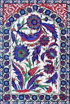 Tile art hand-painted Set  Turkish traditional Iznik tile art  Tulip motif painted Set; pendant,ring  Unique gift idea