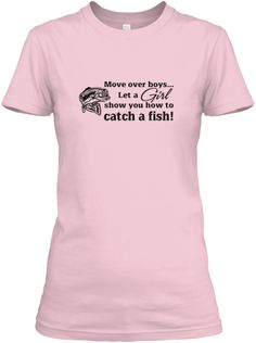 Move over boys, girls can fish too! Ready for the lake! Click to order!