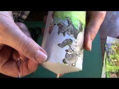 Холодный декупаж свечи. МК - YouTube Napkin Decoupage, Napkins, Candles, Crafts, Youtube, Art, Wood, Furniture, Tutorials