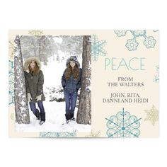 big snowflakes holiday photo greeting card - Papyrus Holiday Cards