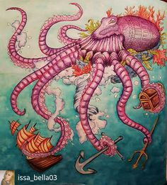 @Regrann_App from @issa_bella03 -  FANTASIA by:@nickfilbert  #fantasiacoloringbook #nickfilbert #coloringforadults #fabercastell #color #relax #arttherapy #creative #kolorowankadladorosłyc #colorindolivrostop #colorindolivrostop #bayan_boyan #coloringsecrets - #regrann