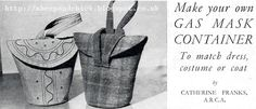 The Vintage Pattern Files: 1940's Sewing - Gas Mask Container